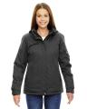 North End® Ladies' Rivet Textured Twill Insulated Jacket