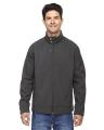 North End® Men's Skyscape Three-Layer Textured Two-Tone Soft Shell Jacket