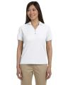 Devon & Jones® Ladies' Pima Piqué Short-Sleeve Y-Collar Polo