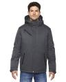 North End® Men's Rivet Textured Twill Insulated Jacket
