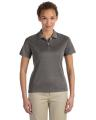 Devon & Jones® Ladies' Pima-TechéTM Jet Piqué Heather Polo